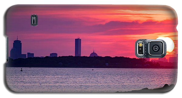 Boston Skyline Worlds End Galaxy S5 Case