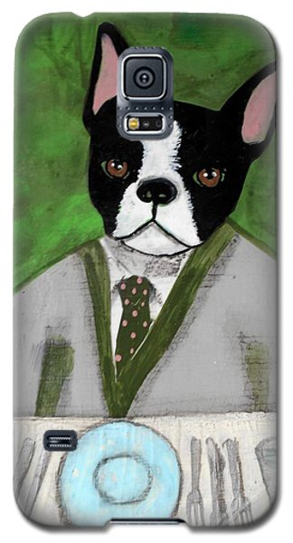 Boston Terrier At A Formal Dinner Galaxy S5 Case