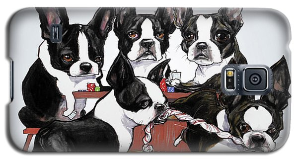 Boston Terrier - Dogs Playing Poker Galaxy S5 Case