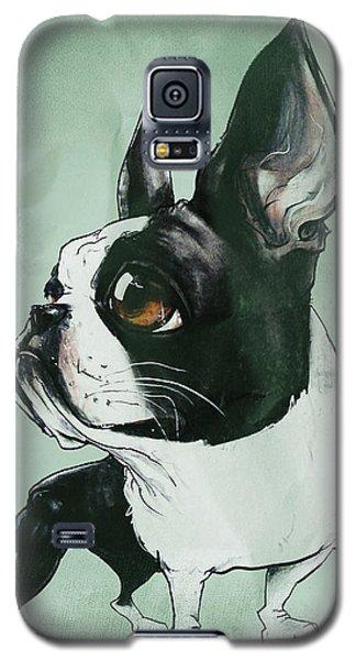 Boston Terrier - Green  Galaxy S5 Case