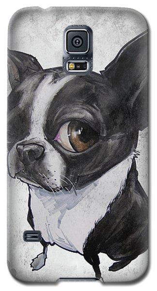 Boston Terrier - Grey Antique Galaxy S5 Case