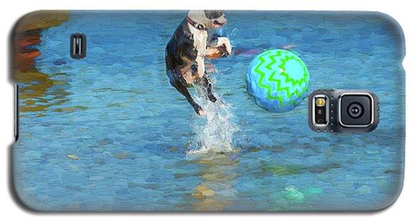 Boston Terrier Jump - Painterly Galaxy S5 Case