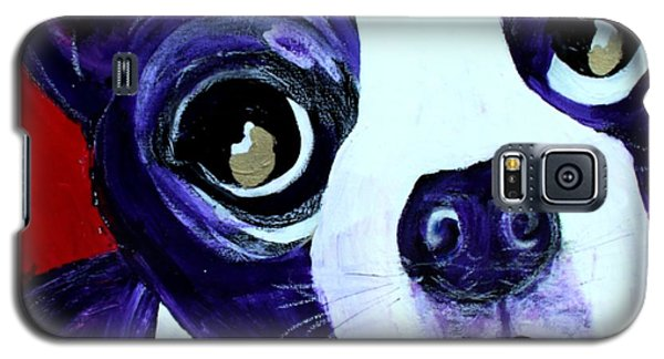 Boston Terrier- Lucy Galaxy S5 Case by Laura  Grisham