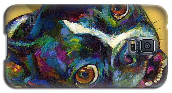 Galaxy S5 Case featuring the digital art Boston Terrier by Robert Phelps