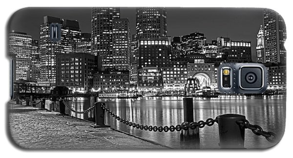 Boston Waterfront Boston Skyline Black And White Galaxy S5 Case