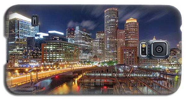 Boston's Skyline At Night Galaxy S5 Case