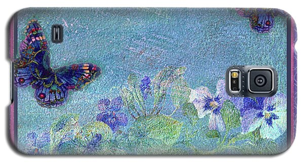 Galaxy S5 Case featuring the painting Botanical And Colorful Butterflies by Judith Cheng