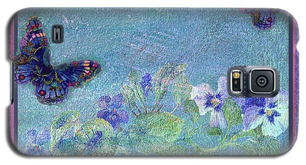 Botanical And Colorful Butterflies Galaxy S5 Case by Judith Cheng