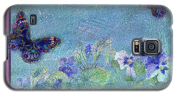 Botanical And Colorful Butterflies Galaxy S5 Case