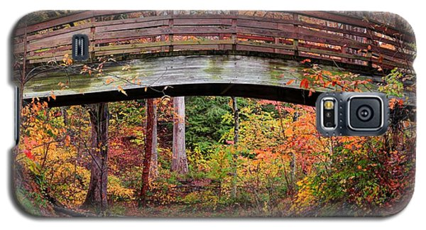 Botanical Gardens Arched Bridge Asheville During Fall Galaxy S5 Case
