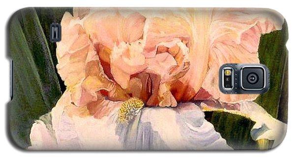 Botanical Peach Iris Galaxy S5 Case