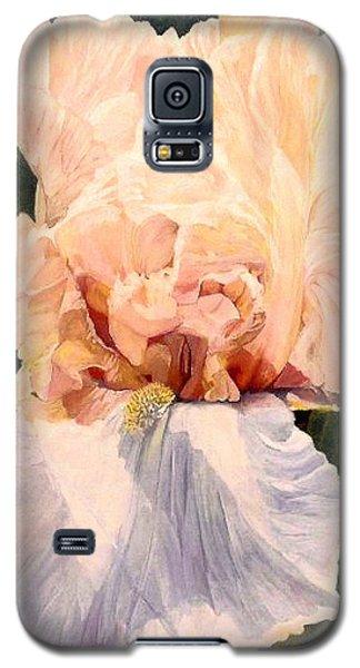 Botanical Peach Iris Galaxy S5 Case by Laurie Rohner