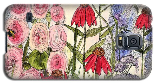 Galaxy S5 Case featuring the painting Botanical Wildflowers by Laurie Rohner