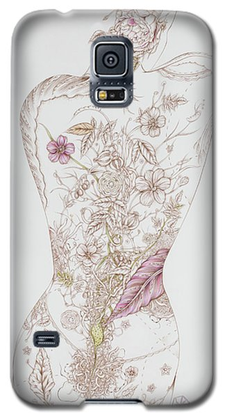 Galaxy S5 Case featuring the drawing Botanicalia Tristan by Karen Robey