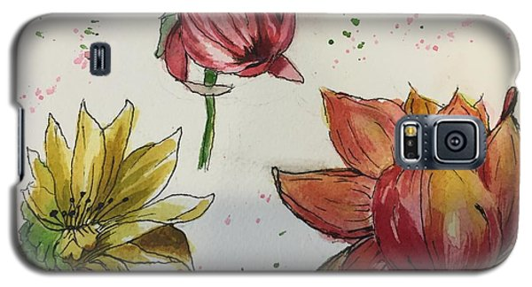 Galaxy S5 Case featuring the painting Botanicals by Lucia Grilletto