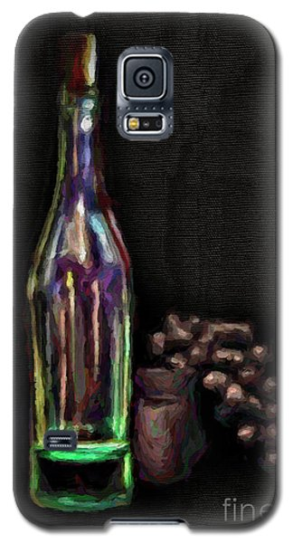 Galaxy S5 Case featuring the photograph Bottle And Grapes by Walt Foegelle