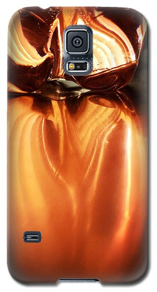 Bottle Reflection - Abstract Colorful Art Square Format Galaxy S5 Case by Matthias Hauser