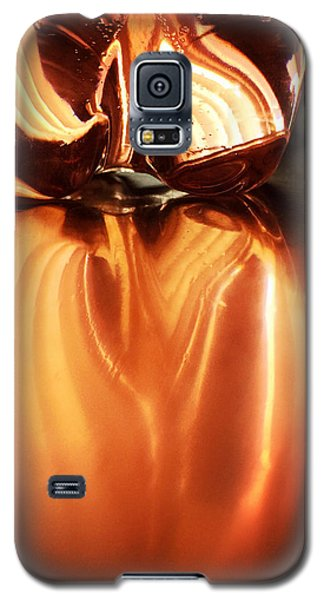 Orange Galaxy S5 Case - Bottle Reflection - Abstract Colorful Art Square Format by Matthias Hauser