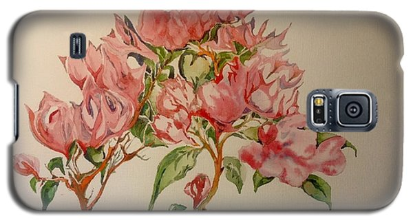 Galaxy S5 Case featuring the painting Bougainvillea by Iya Carson