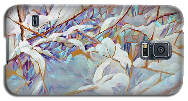 Galaxy S5 Case featuring the painting Boughs In Winter by Joanne Smoley