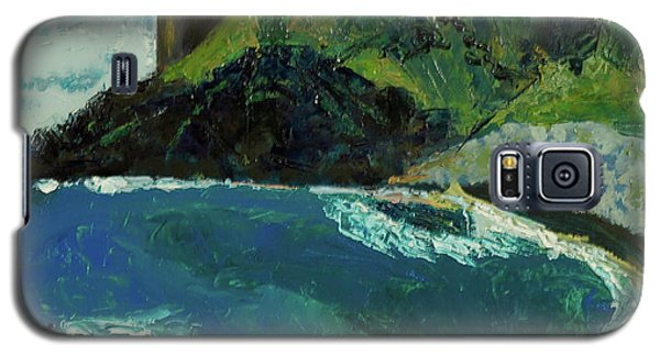 Galaxy S5 Case featuring the painting Boulder Beach by Paul McKey
