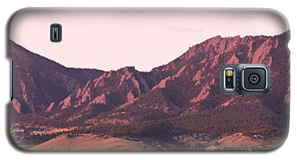 Boulder Colorado Flatirons 1st Light Panorama Galaxy S5 Case by James BO  Insogna