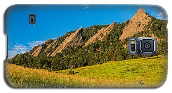 Boulder Colorado Flatirons Sunrise Golden Light Galaxy S5 Case