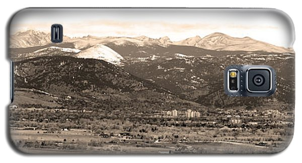 Boulder Colorado Sepia Panorama Poster Print Galaxy S5 Case by James BO  Insogna
