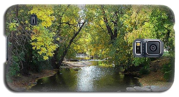 Boulder Creek Tumbling Through Early Fall Foliage Galaxy S5 Case