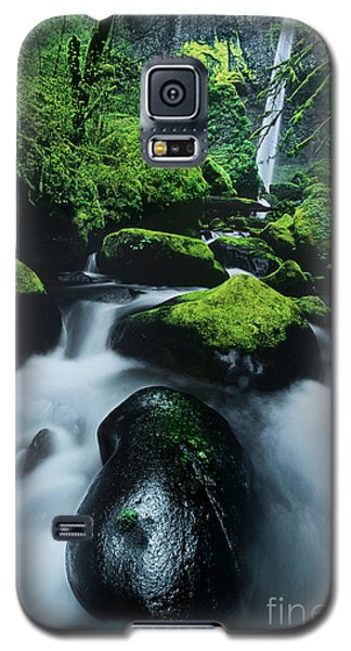 Galaxy S5 Case featuring the photograph Boulder Elowah Falls Columbia River Gorge Nsa Oregon by Dave Welling