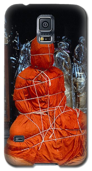 Galaxy S5 Case featuring the photograph Bound Buddha by Carl Purcell