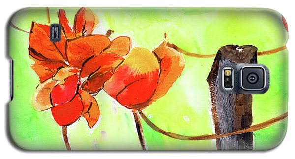 Galaxy S5 Case featuring the painting Bound Yet Free by Anil Nene