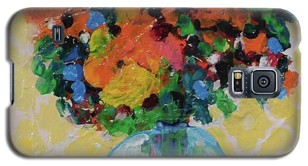 Galaxy S5 Case featuring the painting Bouquet-a-day #7 Original Acrylic Painting Free Shipping 59.00 By Elaine Elliott by Elaine Elliott