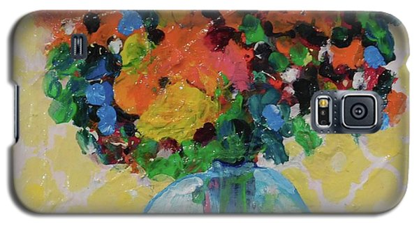 Bouquet-a-day #7 Original Acrylic Painting Free Shipping 59.00 By Elaine Elliott Galaxy S5 Case