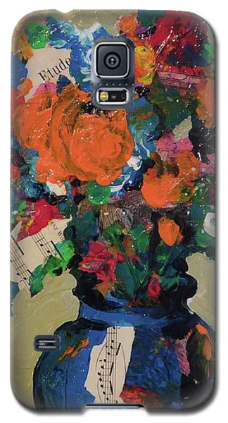 Bouquet-a-day #8 Original Mixed Media Painting On Canvas 70.00 Incl Shipping By Elaine Elliott Galaxy S5 Case