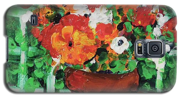 Galaxy S5 Case featuring the painting Bouquet A Day Floral Painting Original 59.00 By Elaine Elliott by Elaine Elliott