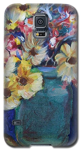 Bouquet Flowers Of Blue  Galaxy S5 Case