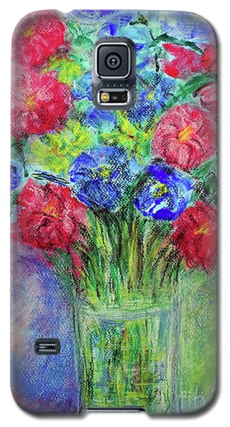 Galaxy S5 Case featuring the painting Bouquet by Jasna Dragun
