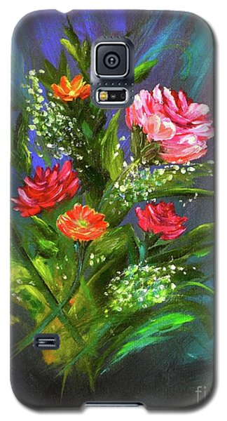 Galaxy S5 Case featuring the painting Bouquet by Mary Scott