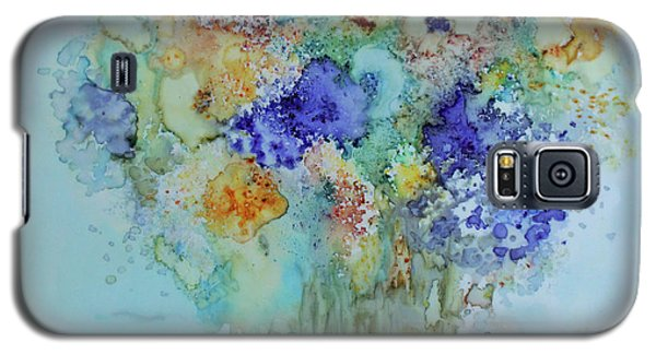 Galaxy S5 Case featuring the painting Bouquet Of Blue And Gold by Joanne Smoley
