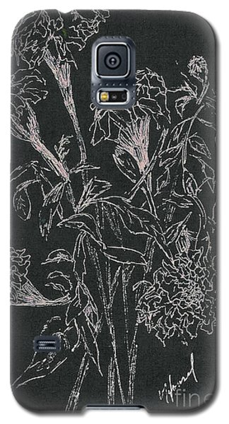 Galaxy S5 Case featuring the painting Bouquet Of Flowers  by Vicki  Housel