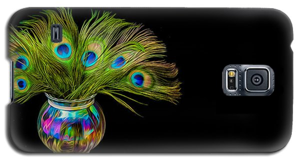 Galaxy S5 Case featuring the photograph Bouquet Of Peacock by Rikk Flohr