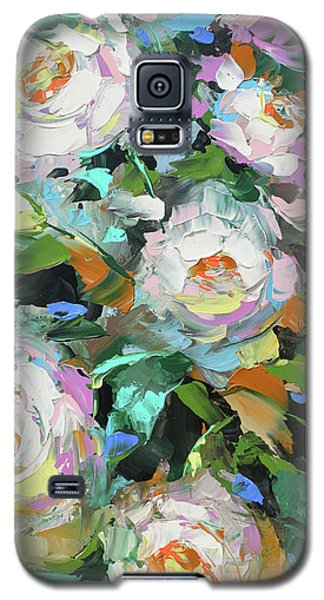 Galaxy S5 Case featuring the painting Bouquet Of Peonies  by Dmitry Spiros