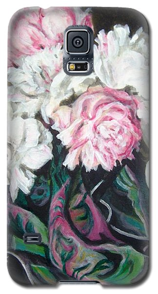 Galaxy S5 Case featuring the painting Bouquet Of Peonies by Laura Aceto