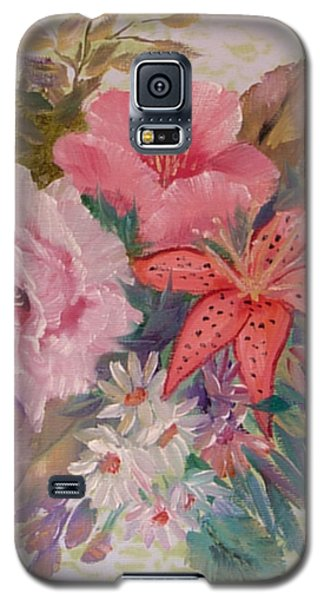 Galaxy S5 Case featuring the painting Bouquet by Quwatha Valentine