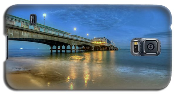 Galaxy S5 Case featuring the photograph Bournemouth Pier Blue Hour by Yhun Suarez
