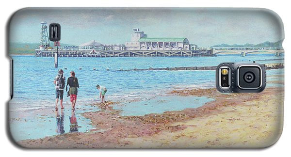 Galaxy S5 Case featuring the painting Bournemouth Pier Late Summer Morning by Martin Davey