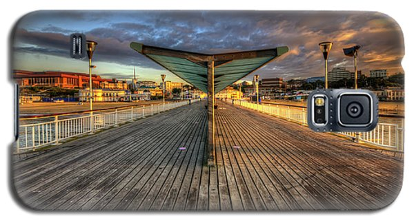 Galaxy S5 Case featuring the photograph Bournemouth Pier Sunrise 2.0 by Yhun Suarez