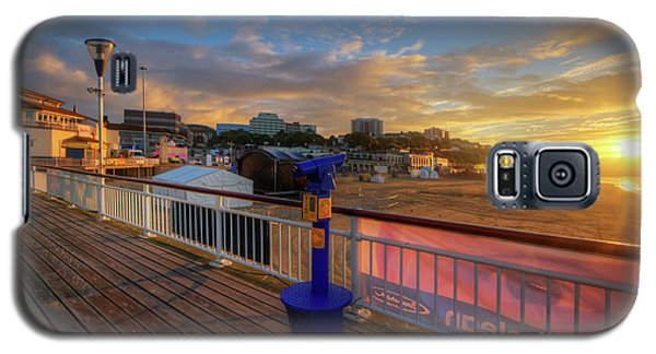 Galaxy S5 Case featuring the photograph Bournemouth Pier Sunrise by Yhun Suarez