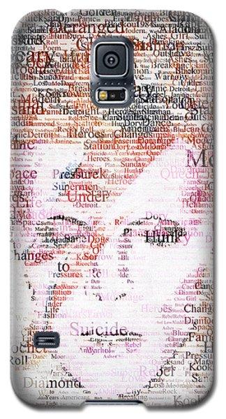 Bowie Typo Galaxy S5 Case